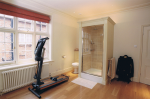 Home gym with shower facility