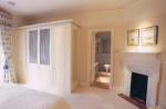 Bespoke bedroom furniture & restored period fireplace